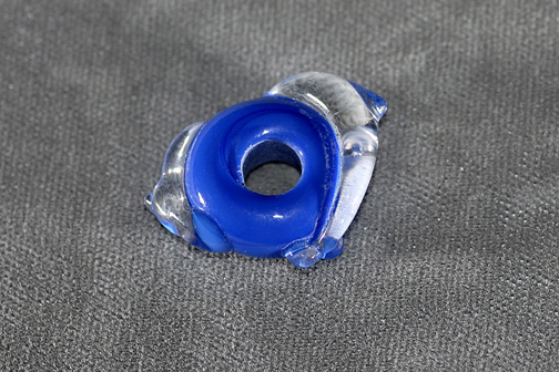 (5mm hole) Blue with clear dolphins