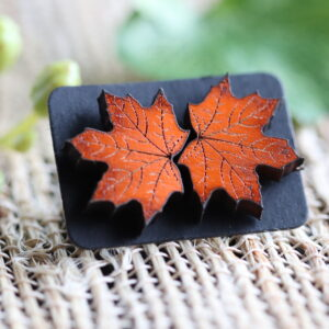 Orange leaf 1