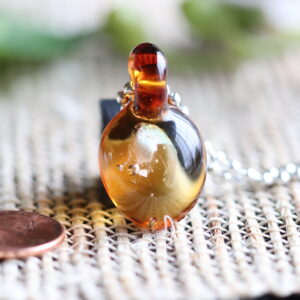 Amber glass pendant #11
